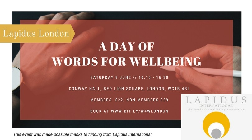 A Day of Words for Wellbeing, 9th June - Lapidus London